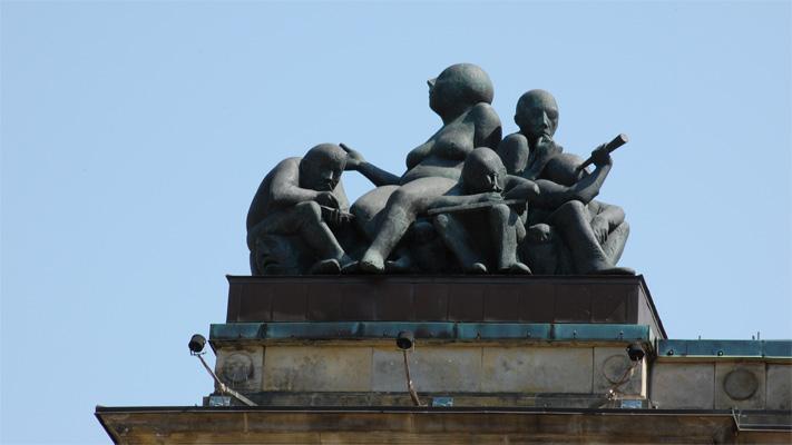 Teaser Attika-Figuren des Handelskammergebäudes